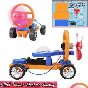 الرياح الطاقة الكهربائية سباق السيارات تجربة العلوم لعب للأطفال diy تجميع التعليمية نموذج سيارة أطقم اللعب g sqcglj toys2010