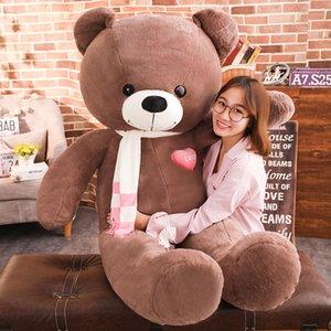 Kawaii Scarf Teddy Bear Plush Toys Stuffed Animals Soft Big Heart Bear Yesbear Pillow Birhday Valentines Day Gifts For Girls kid