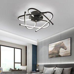 Chandeliers Black Pendant Lamp Ceiling Color Cord Light Nordic Decoration Home Avizeler Ventilador De Techo