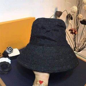 الرجال النساء الزي كاب الدنيم قبعة الشاطئ للجنسين نمط مع رسائل مطبوعة قبعات جينز سونحات أربعة موسم ثيخ جودة أزياء بيني حجم
