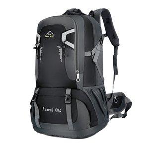 60L impermeável unisex homens mochila viajar pacote esportes saco pacote ao ar livre escalada montanhismo caminhadas trouxa de acampamento para macho 210323