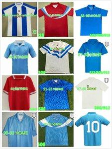 Retro Napoli Maradona Fussball Trikots 86 87 88 89 91 93 Neapel Jersey 1987 1988 Mertens Alemao Careca Hamsik Vintage Football Hemden