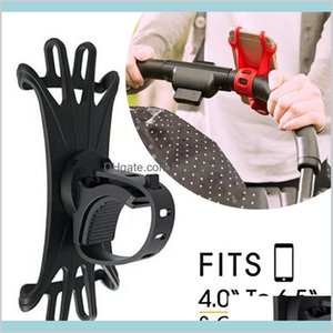 Baby Stroller Accessories Mobile Phone Holder Rack Universal 360 Rotatable Pram Cart For Iphone Gps Device Kids Qbnnq