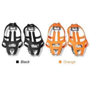 Cords, Slings And Webbing Traction Cleats With 18 Spikes Snow Shoes Antiskid Teeth Climbing Crampons For Outdoor Winter Walking Jogging Hiki