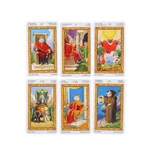 of White Cats English Version Divination Tarot Deck Oracles Card Board Game for Adult with PDF Guidance s2C7V
