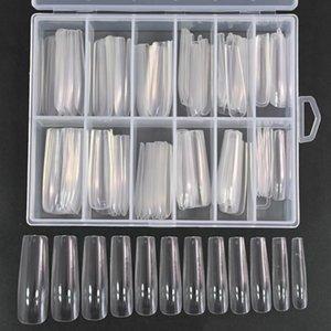 False Nails 120pcs Box XXL Square Full Cover Press On Nail Tips Clear Natural Extra Long Straight Manicure Tools Fake VA-08