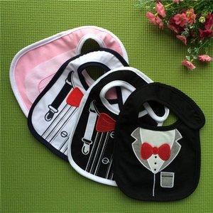 Bibs Baby Feeding Burping Cloths Boys Girls Accessory Cotton Cartoon Bow Tie Infant Clothes B4431