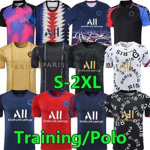 The Lates Soccer jerseys 21 22 MBAPPE Kean ICARDI DI MARIA 2021 Training POLO Pre-shirt football jesey Maillots de foot Camisetas de futebol