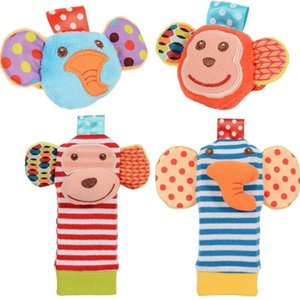 Sozzy Wrist Rattle & Foot Finder Baby Toys Babys Socks Lamaze Plush Wrists Rattles+Foot Kids Sock