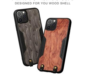 Fashion Solid wood shell Phone Cases For iphone 12 11 Pro Max XS X XR 6 6s 7 8 plus SE Fall prevention Cover