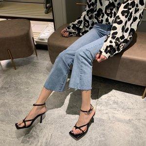 Eilyken gladiateur sandales hauts talons chaussures tombez la meilleure rue look femelles coiffe ouverte pinces-sur-chaussée sandales à lanières femmes sdfsdeowietoinh