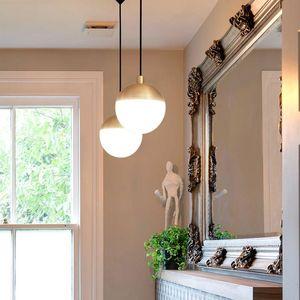 Pendant Lamps Vintage Stone Copper Christmas Balls Chandeliers Ceiling Hanging Lamp Hanglampen Luzes De Teto Ventilador Techo