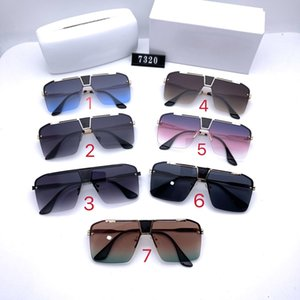 Colored Phnom Penh Sunglasses Large one-piece gorgeous polarized lens, half frame driving sunshade mirror 7320