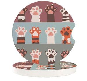 Table Runner Cat Animal Cartoon Car Coasters Set Heat Resistant Placemats Drink Mat Tea Coffee Cup Pad Waterproof Creative Decor