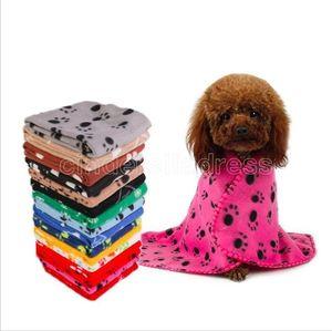 60*70cm New Styles Pet Dog Soft Blanket Autumn And Winter Cat Dog Blanket Puppy Fleece Warmer Towel Mat Pet Cushion Sleep pad Pet Supplies CM19