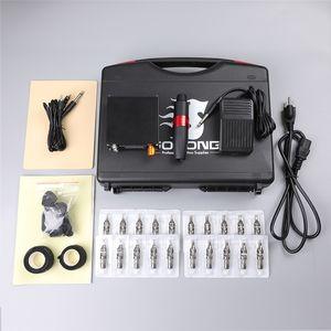 5 Set Pack Professional Tattoo Machine Kit Motor Power Supply Rotary Pen Hybrid Cartridges Needles For Permanent Makeup Eyebrow Microblading Body Art