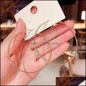 & Hie Jewelryfashion Big Hoop Earrings Large Circle Earring For Women Drop Delivery 2021 Vwmtb