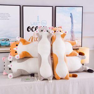 Brinquedos de pelúcia gato animal bonito criativo longo brinquedos macios quebrar a soneca almofada de almofada para crianças enchido boneca escritório presente dormindo lunc 769 s2