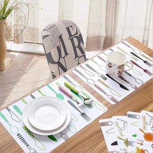 Gedruckt PVC Placemat TableMat Pothold Rüsselmatte Modedruck Wasserdichte Antifouling Tischsets Kreative Haushaltstisch Dekorationspads WLL494