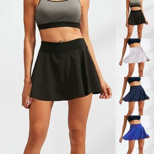 Sexy Women Sports Skirts A-Line Hot High Waist Tennis Pleated Mini Preppy Safty Quick Dry Solid Casual Fitness Yoga Clothes