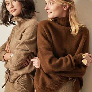 Women's Knits & Tees BELIARST Autumn and Winter Cashmere Sweater High-Necked Pullover Loose Thick Short Paragraph Knit Shirt E3O8