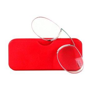Faltbare Nase Clip Lesebrille SOS Brieftasche Reader Mini Pince-Nez Presbyopic Mit Case Diopter 1.0 1.5 2.0 2.5 3.0 3.5 Sonnenbrillen