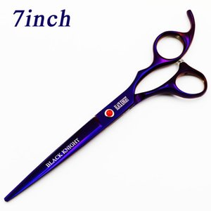 BLACK KNIGHT Professional Hairdressing 7 inch Cutting Barber shears pet scissors purple style