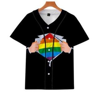 Men's Baseball Jersey 3d T-shirt Printed Button Shirt Unisex Summer Casual Undershirts Hip Hop Tshirt Teens 071