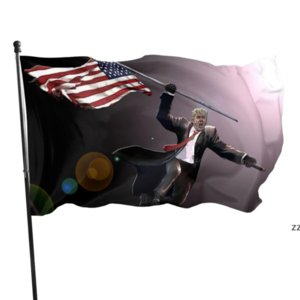 NEW!!! Keep America Great First Tank Hero Donald Trump Flag 90x150cm HWE9586