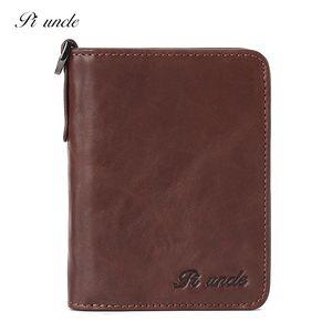 Piliushu New Leather Men's Wallet Short Folding Multi Card Id Anti-theft Brush Rfid Cowhide Fashion Trendwallet