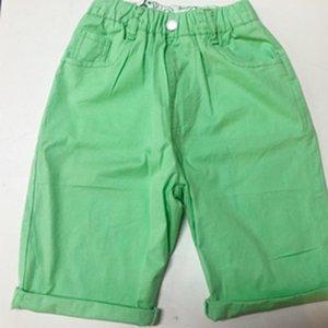 Jean Children's Roupas Menino Shorts 2021 Verão Novos Calças de cinco pontos Meninos Bebê Algodão Crianças Casuais Calças Casuais