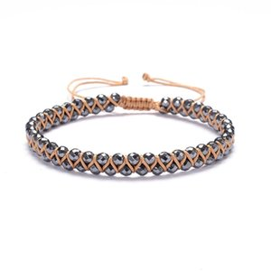 Tennis Faceted Hematite Beads Handmade Bracelets Energy Powerful Yoga Men Women Jewelry Wrap Stone Unisex Round