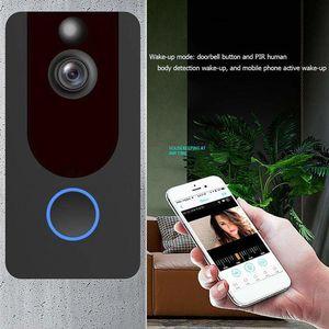 V7 WIFI جرس الباب اللاسلكي 720P 1080P الذكية IP الفيديو الداخلي الأمن كاميرا الباب باب الهاتف جرس جرس مراقبة النائية الإنذار