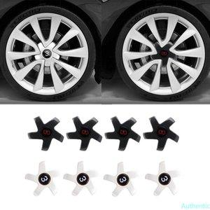 For Tesla Model 3 Wheel Center Cover Waterproof 18 Inch Carbon Fiber Hub Caps Wheel Hub Screw Cap Kit For Car Accessories