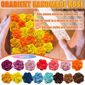 Crafts Artificial Flowers Head Rose Flower Decoration For Wedding DIY Wreath Scrapbook Supplies Home Decor Drop-V12 Decorative & Wreaths