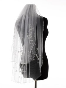 Bridal Veils Charming Real Picture Bead Edge Multi Layers Wedding Accessories Tulle Veil With Comb