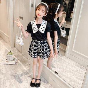 Teen Girls Одежда набор одежды Детская Одежда сердца футболка шорты костюма детский костюм 2021 летние наряды 6 8 10 12 13 14 лет