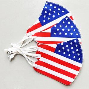 Amerikanische Flagge Masken für Männer Frauen Sommer Sonnencreme Staubdichte Gesichtsmaske Erwachsene Dreidimensionale Druckstaub Facemask Auf Lager