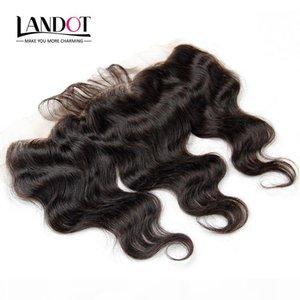 8А 8a Перуанское кружевное лобное закрытие волны тела волнистые размеры 13 * 4 полное кружево лобное 100% необработанные девственницы человеческие волосы натуральные черные