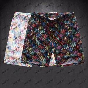 Moda de verão homens shorts de secagem rápida swimwear impressão placa calças de praia homens nadar curto tamanho m-xxxl
