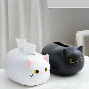 Tissue Boxes & Napkins Cute Cat Toilet Paper Holder Desktop Decoration Ornaments Living Room Hidden Ear Toothpick Box