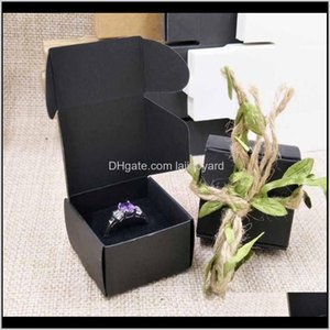 20Pcs Per Lot 404025Mm Kraft White Ring Display Box With Velvet Sponage Inside Custom Logo Moq 1000Pcs Wmtgic Qanln Gift Wrap Fkymb