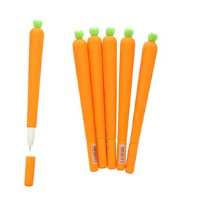 Gel Pens 2 Pcs 0.5mm Novelty Fresh Carrot Pen Promotional Gift Stationery School Office Supply