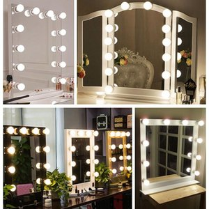 Strings Holiday Lights Makeup Mirror Led String Bulb Fairy Christmas Decorations For Home Room Wall Lamp 6 10 14 Bulbs