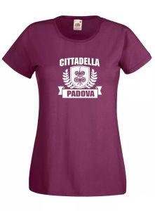 قميص قميص المرأة J1790 قلعة Padua Crest مدن إيطاليا