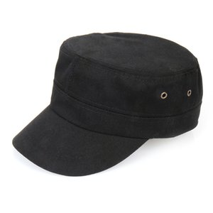 Factory in Stock Korean Style Breathable Sun Protection Hat Men and Women Outdoor All-Matching Military Cap Flat Top Sun-Poof Peaked Cap