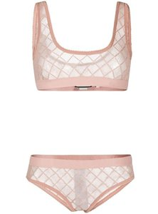 Crystal Lace Lingeries Letter Tulle Bra Set Fashion Sexy Underwear for Women 3 Colors 2 Style Delicate Gift