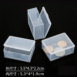 Storage Boxes & Bins Clear Lidded Small Plastic Box For Parts Tools Jewelry Display Screw Sewing Case Beads Tablet Container Packaging