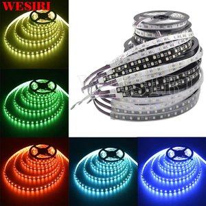 شرائط WESIRI 5M 12V / 24V RGBW LED قطاع الضوء 4 ألوان في 1 SMD رقاقة 60 المصابيح / م مختلط اللون