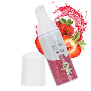 60ml Foaming Liquid Toothpaste Children Tooth Whitening Foam Strawberry Favor for 360 Kids Toothbrush Natural Mouth Wash Water